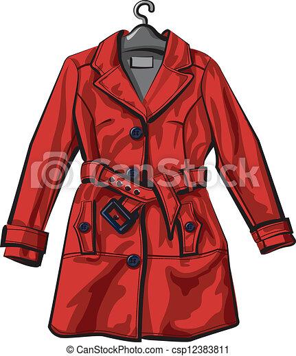 Manteau rouges pluie clipart vectoris recherchez - Manteau dessin ...