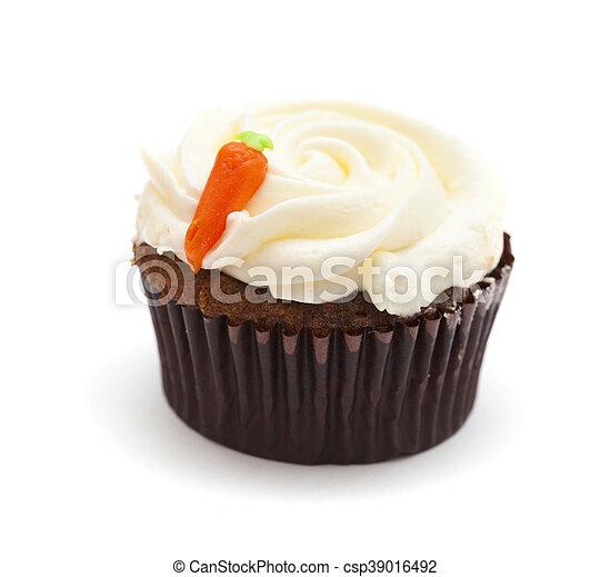 mantequilla, cupcake, zanahoria, azúcar glacial - csp39016492