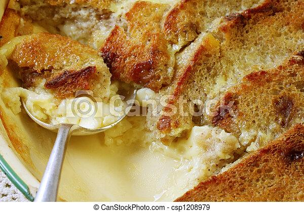 Pan y pudín de mantequilla - csp1208979