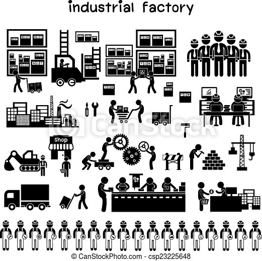 manufacturer and distributor icon