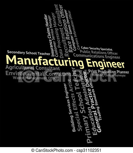 Manufacturing Engineer Shows Engineering Production And Jobs