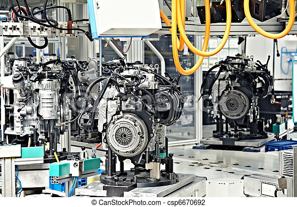 manufacturing of car engine - csp6670692