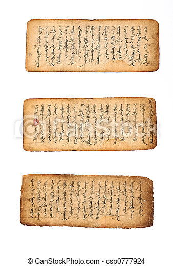 manuscrit, mongol - csp0777924
