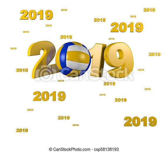 Many Beach Volleyball 2019 Designs - csp58138193
