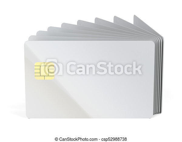 many blank plastic cards with chip csp52988738 - Blank Plastic Cards