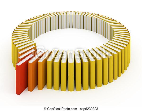 Many books isolated on white - csp6232323