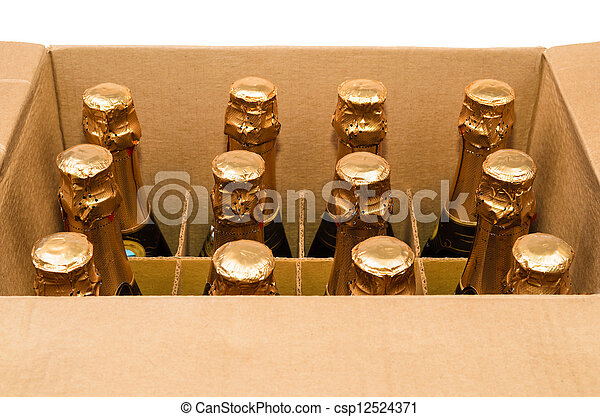 Many bottles of champagne - csp12524371