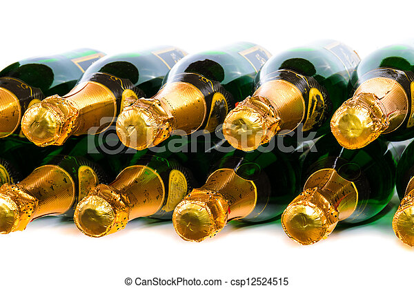 Many bottles of champagne - csp12524515
