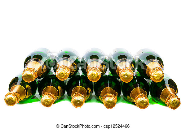 Many bottles of champagne - csp12524466