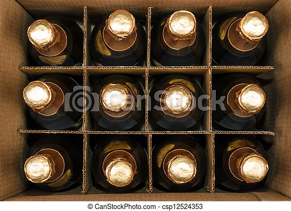 Many bottles of champagne - csp12524353