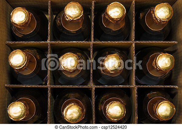 Many bottles of champagne - csp12524420