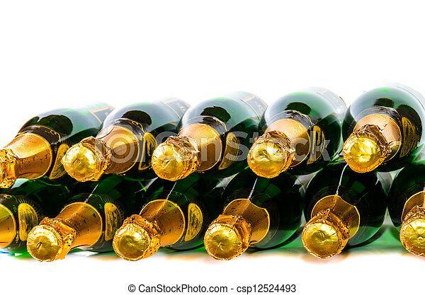 Many bottles of champagne - csp12524493