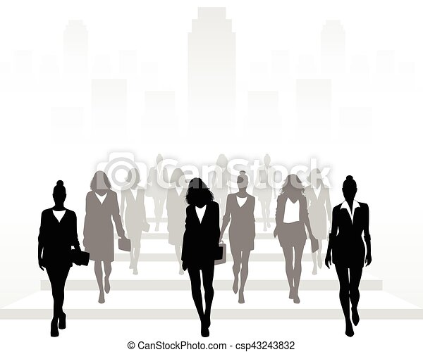 Many businesswomen going forward - csp43243832