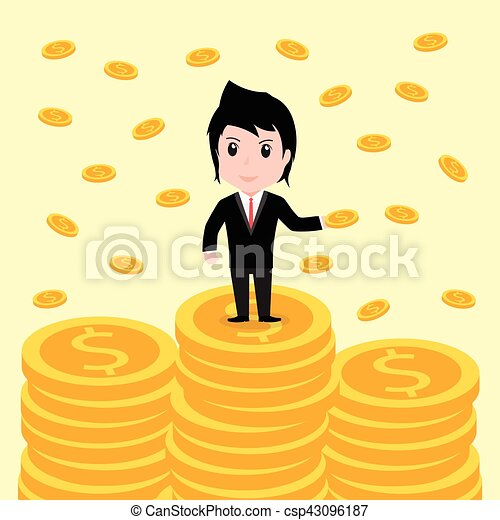Many coins, Business man have many coins - csp43096187