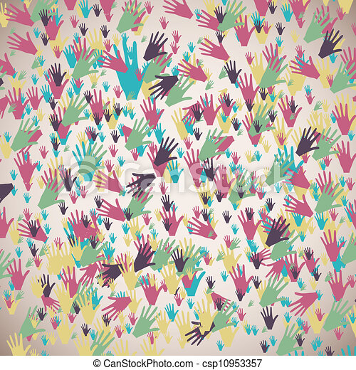 many color hands - csp10953357