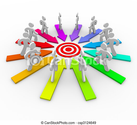 Many Competing for Same Goal - Target - csp3124649