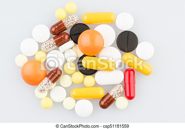 Many different tablets on the table - csp51181559