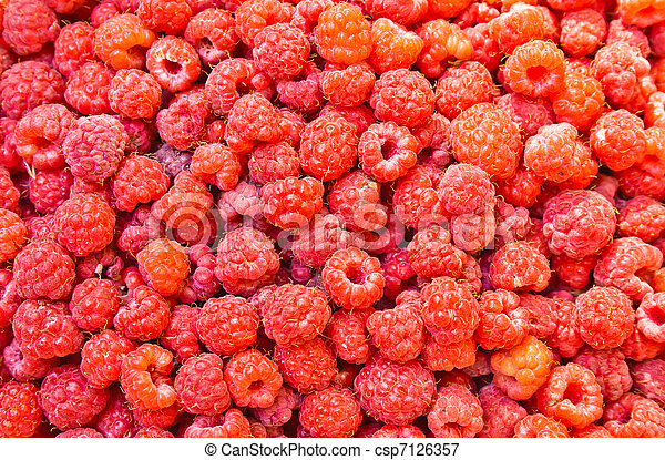 many fresh raspberry - csp7126357