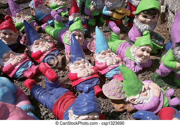Many Garden Gnomes - csp1323690