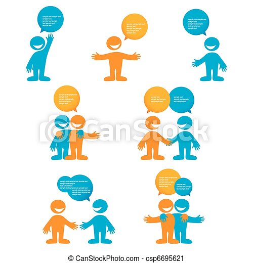 many-humans-with-empty-chat-bubbles - csp6695621