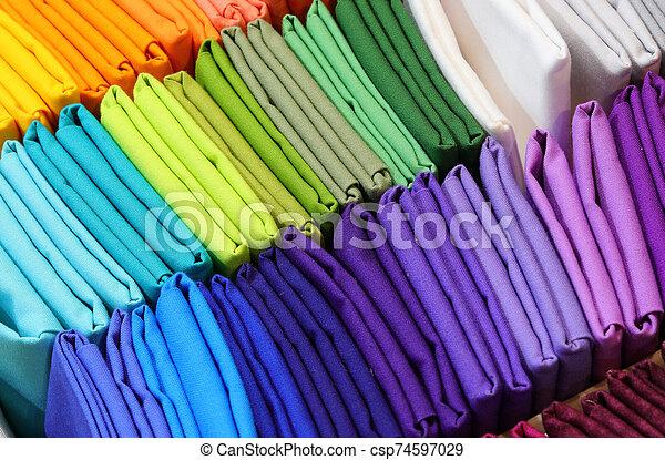 many multicolored canvas - csp74597029