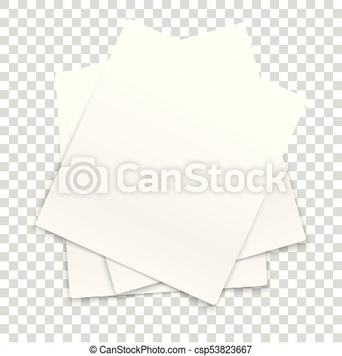 Many paper frames isolated on transparent background.