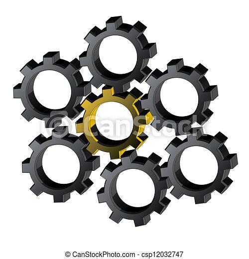 Many pieces machines - csp12032747