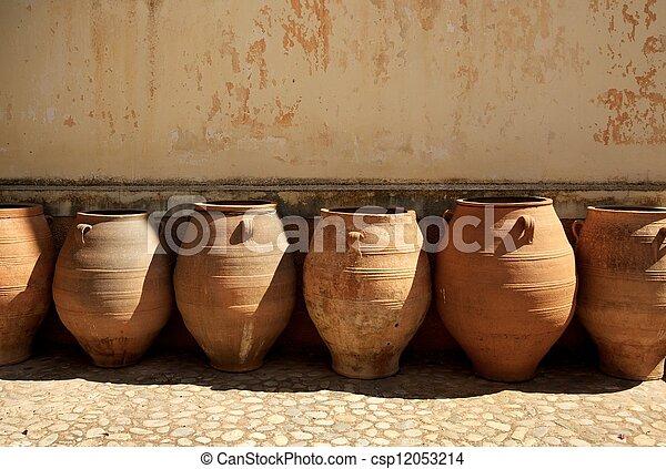 Many pots outdoors - csp12053214