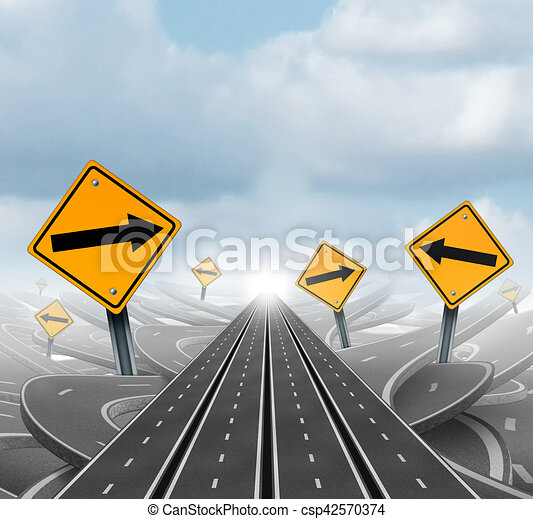 Many Roads To Success - csp42570374