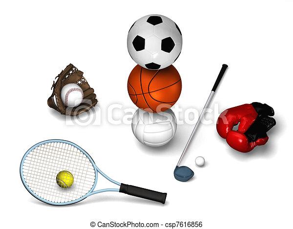 Many sports elements - csp7616856