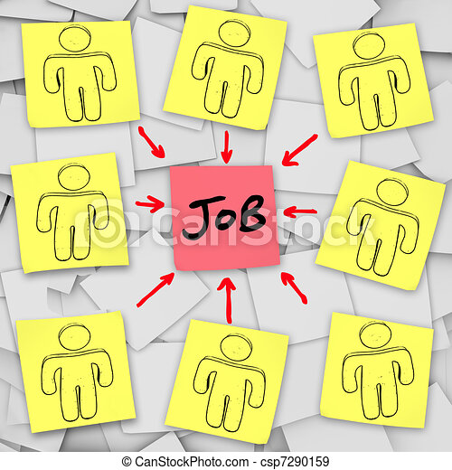 Many Unemployed Candidates Compete for One Job - csp7290159
