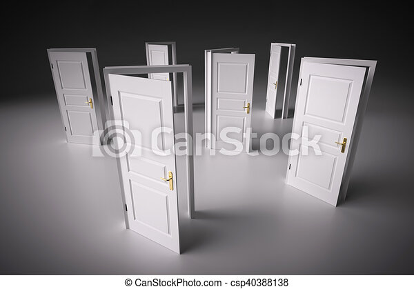 Many ways to choose from, open doors. decision making. Many ways to ...