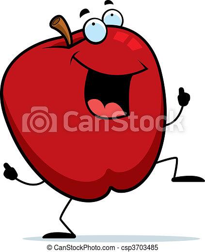 manzana, bailando - csp3703485