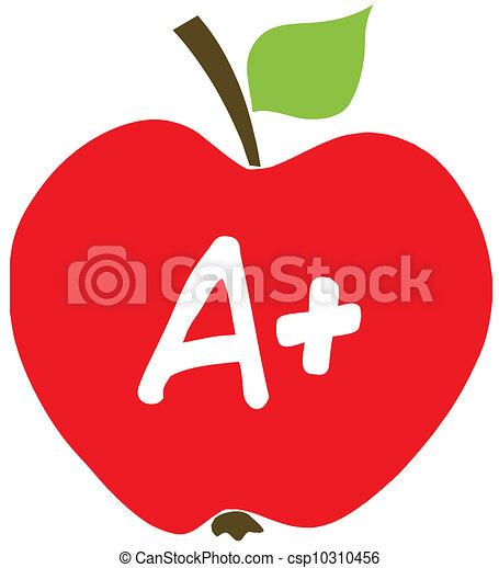Manzana con una - csp10310456