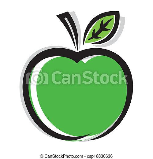 icono de manzana - csp16830636