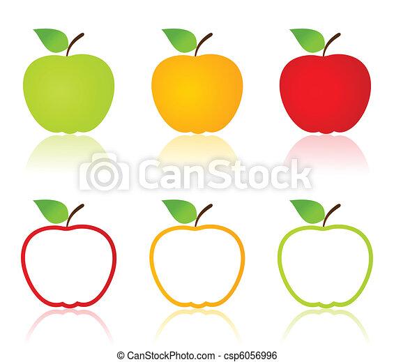 iconos de manzana - csp6056996