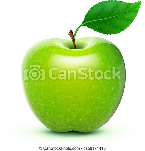 Manzana verde - csp8174415