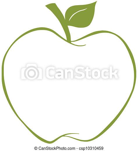 manzana verde, contorno - csp10310459