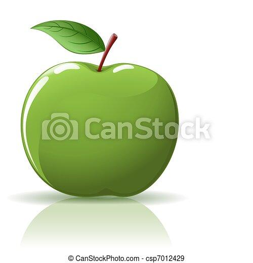 Manzana verde - csp7012429