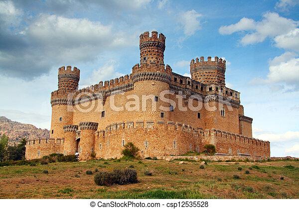 Manzanares el Real Castle (Spain), build in the 15th. century - csp12535528