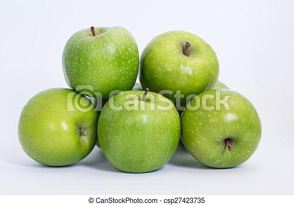 Manzanas verdes - csp27423735
