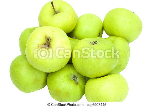 Manzanas verdes - csp6907445
