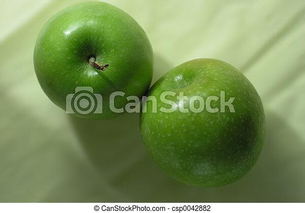 Manzanas verdes - csp0042882