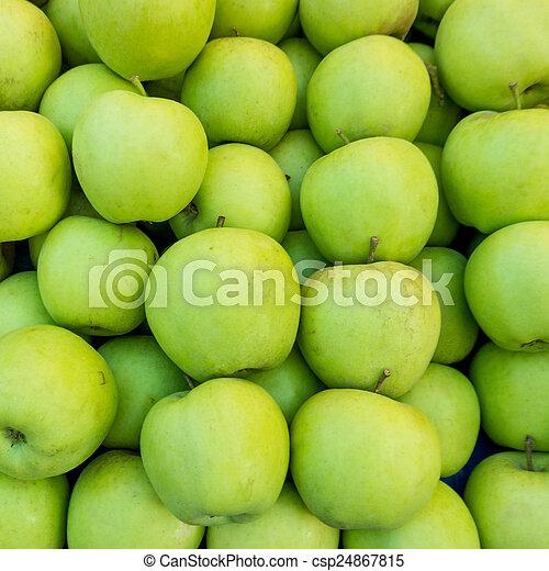 Manzanas verdes - csp24867815