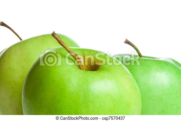 Manzanas verdes - csp7570437