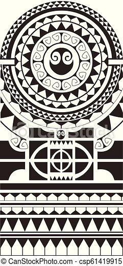 Maori Polynesian Tattoo Style Ornament Ready For Print And Used