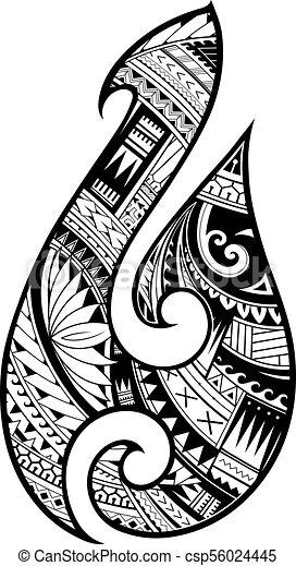 Maori Style Tattoo Aboriginal Fish Hook Symbol Maori Ethnic Style