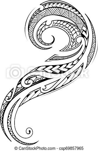 Maori style tattoo design - csp69857965