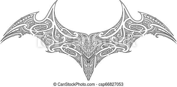 27ed7aca2a8d4 Maori tattoo design. Polynesian tattoo ornament. ethnic samoan style ...