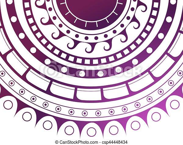 Maori tattoo design - csp44448434